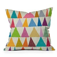 Nick Nelson Analogous Shapes In Bloom Throw Pillow
