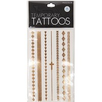 With Love From CA Tribal Arm Flash Tattoos - Womens Scarves - Gold And Silver - One