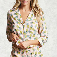 Pineapple Print PJ Set
