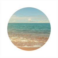 LIMITED EDITION Circle Photo, Beach Photography, Sea, Blue, Seascape Photography, Ocean, Travel Photo, Open Edition 8 x 8 Square Photo