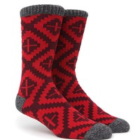 On The Byas Mountain View Crew Socks - Mens Socks - Red - One