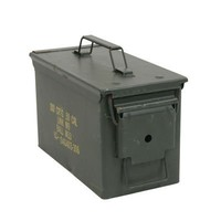 New .50 Caliber Steel Ammo Can M2A1 Waterproof Storage Box Made in USA by Milspec Military Manufacturer