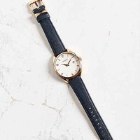 Nixon Bullet Rose Gold + Navy Leather Watch