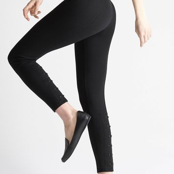 Yummie High Waisted Ankle Legging w/ Faux Lace Up