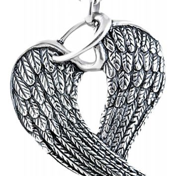 Controse Women's Steel Wings & Halo Necklace - Silver