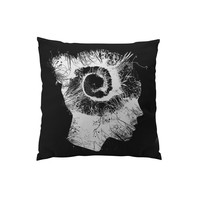 Throw Pillows for Couches / Blind Soul in white by Chris Keegan