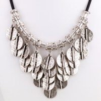 African Disc Cluster Bib Necklace