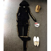 Givenchy Women Long Sleeve Shirt Sweater Pants Sweatpants Set Two-Piece