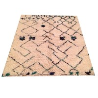 "Pre-owned Vintage Shag Moroccan Rug - 5'7"" x 4'2"""