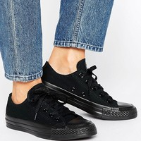 Converse Chuck Taylor All Star Core Black Mono Sneakers at asos.com