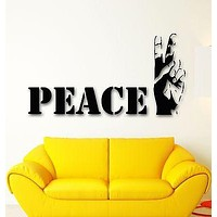 Wall Sticker Vinyl Decal Good peace Hippie Cool Design for Living Room Unique Gift ig1213