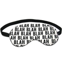 Blah Blah Sleep Eye Mask by oddsnblobs on Etsy
