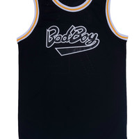 Black Bad Boy Basketball Jersey Cool Basketball Shirts Sport Jersey Breathable Stitched Jersey Basketball Shirts