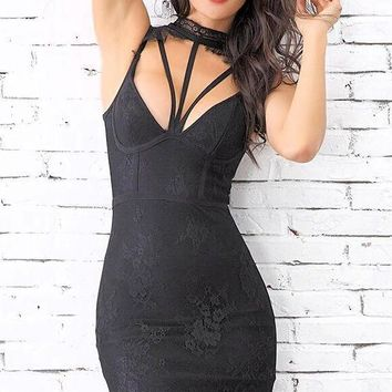 Gia Lace Bandage Dress