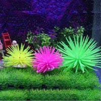 Silicone Aquarium Fish Tank Artificial Coral Plant Underwater Ornament Decor