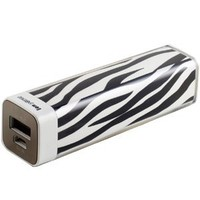 LF Zebra Lipstick Designer 2600mAH Power Charger Battery Bank with Micro USB Cable for iPhone, Various Cell Phones and Digital Devices
