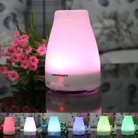 Essential Oil Diffuser,URPOWER 120ml Aromatherapy Diffuser Portable Ultrasonic Aroma Humidifier with 7 Color Changing LED Lamps, Mist Mode Adjustment and Waterless Auto Shut-off Function