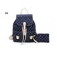 Samplefine2 Louis vuitton fashionable casual lady backpacks are hot sellers of denim printed backpacks #4