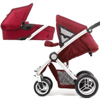 Roan Kortina Classic Pram Stroller 2-in-1 with Bassinet and Seat (Navy - Chequered)