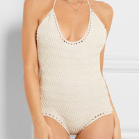 She Made Me - Laharia crocheted cotton swimsuit