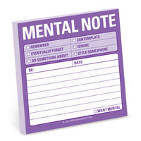 Mental Note Sticky Pad