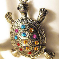Colorful Turtle Necklace from Shop With Love