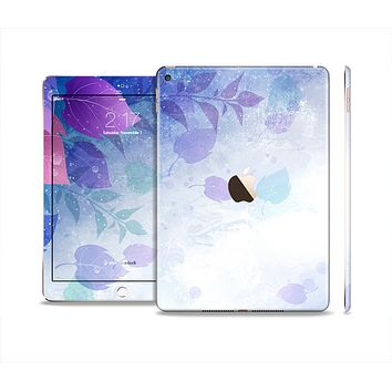 The Magical Abstract Pink & Blue Floral Skin Set for the Apple iPad Pro
