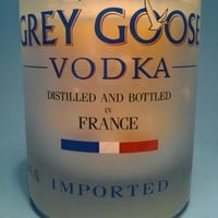 (1) Grey Goose Short Soy Candle With One Standard Wick - Bottle Heaven