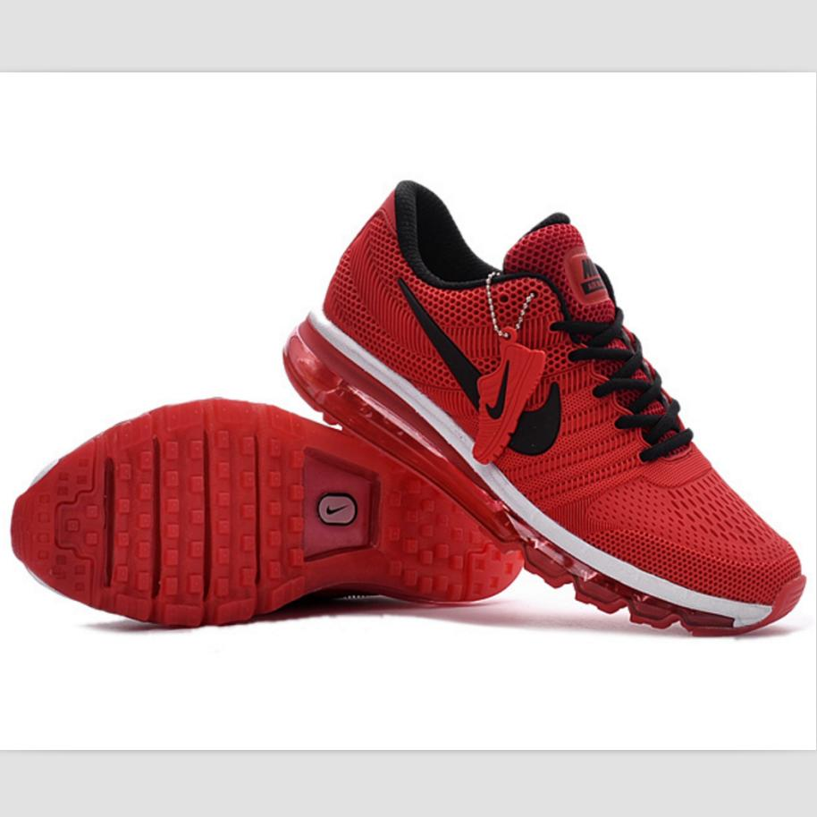 Image of NIKE trend of plastic bottom casual shoes breathable running shoes Red and black