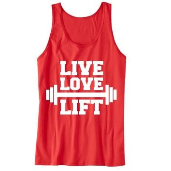 Live Love Lift Unisex Tank Top - For Gym Time - Great Motivation
