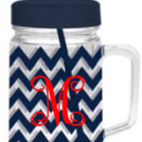 Monogrammed Double Wall Acrylic Cup | Custom Tumbler | Marley Lilly