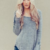 Free To Be Button Thermal Gray