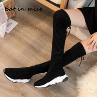 2018 New winter Fashion Women Over The Knee Boots casual Sexy High Heels Women Shoes Winter Warm Boots snow botas A096