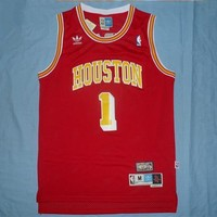 Tracy McGrady #1 Houston Rockets Red Throwback Classic Vintage Jersey