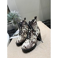 lv louis vuitton trending womens men leather side zip lace up ankle boots shoes high boots 63