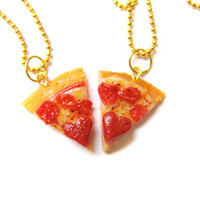 BFF Pizza Necklace