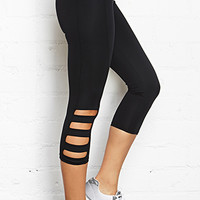 FOREVER 21 Cutout Active Capri Leggings