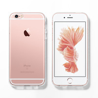 Soft clear iPhone 6s case, Rose gold, iPhone 6 case, iPhone 5s case, DIY kit