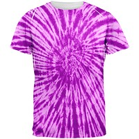 Purple Tie Dye All Over Adult T-Shirt