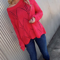 Wave on Wave Sweater - PINK   The Rage