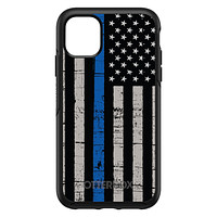 DistinctInk™ OtterBox Symmetry Series Case for Apple iPhone / Samsung Galaxy / Google Pixel - Weathered Thin Blue Line