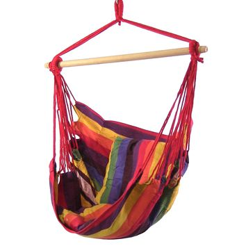 Hanging Hammock Swing with Two Cushions - 3 Colors