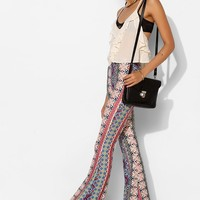 Raga Print-Mix Bell Flare Pant - Urban Outfitters