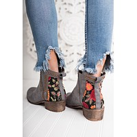 Phaedra Embroidered Booties (Grey)