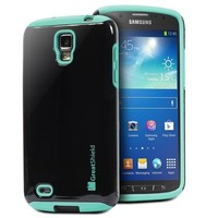 GreatShield NEON Series PC + Silicone Dual Layer Hybrid Case for AT&T Samsung Galaxy S4 ACTIVE / I9295 / SGH-I537 (Blue)