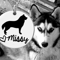 Siberian Husky Personalized Necklace