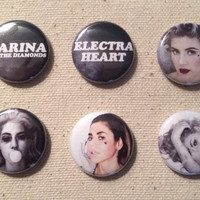 Marina and the Diamonds, Electra Heart Era, Pin Back Button, Set or Choose Your Own
