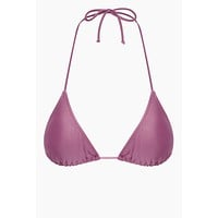 Halter Triangle Bikini Top - Lilac Purple