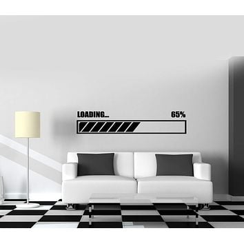 Wall Vinyl Decal Loading Gaming Gamer Nursery Decor Unique Gift z3816