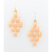 Honeycomb Earring - Peach